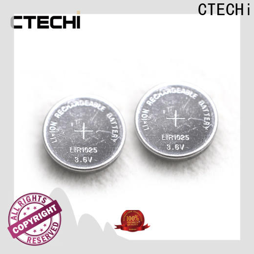 CTECHi rechargeable coin cell battery factory for calculator