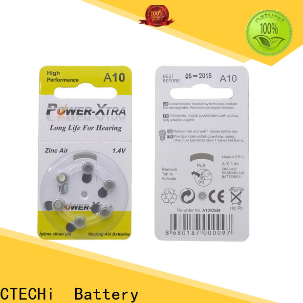 CTECHi high quality zinc air battery wholesale for hearing aid
