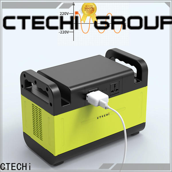 CTECHi stable lithium battery power station manufacturer for outdoor