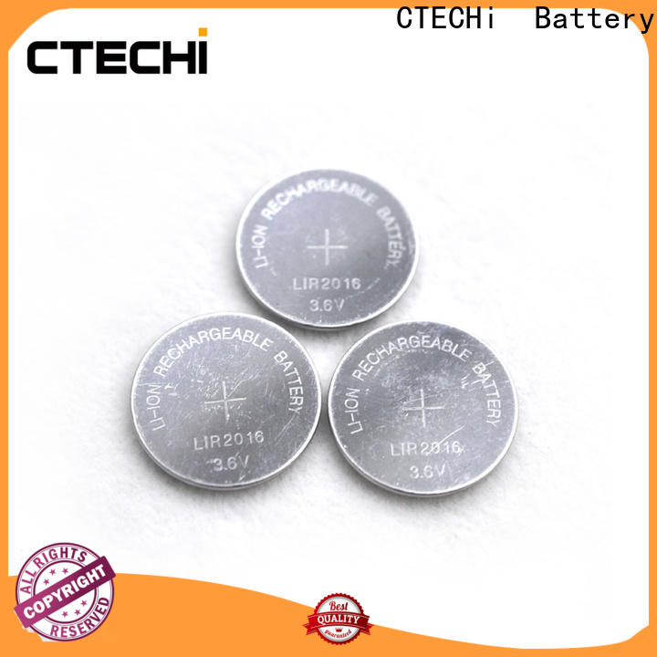 CTECHi digital rechargeable coin cell battery factory for calculator