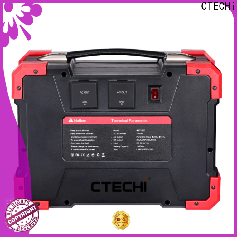 certificated lithium ion power station manufacturer for camping