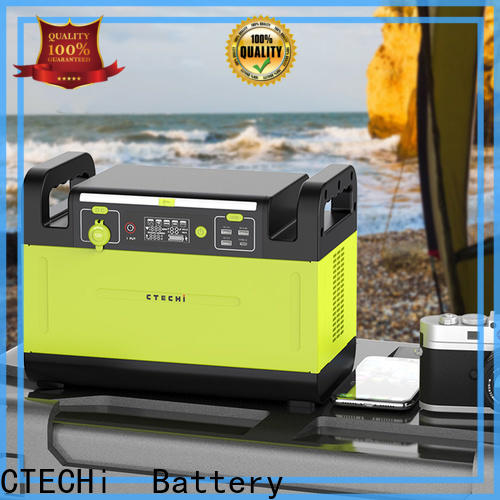 certificated lithium portable power station factory for camping