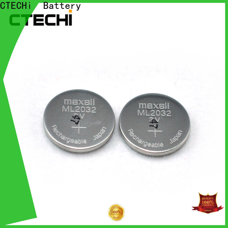 CTECHi rechargeable coin batteries design for watch