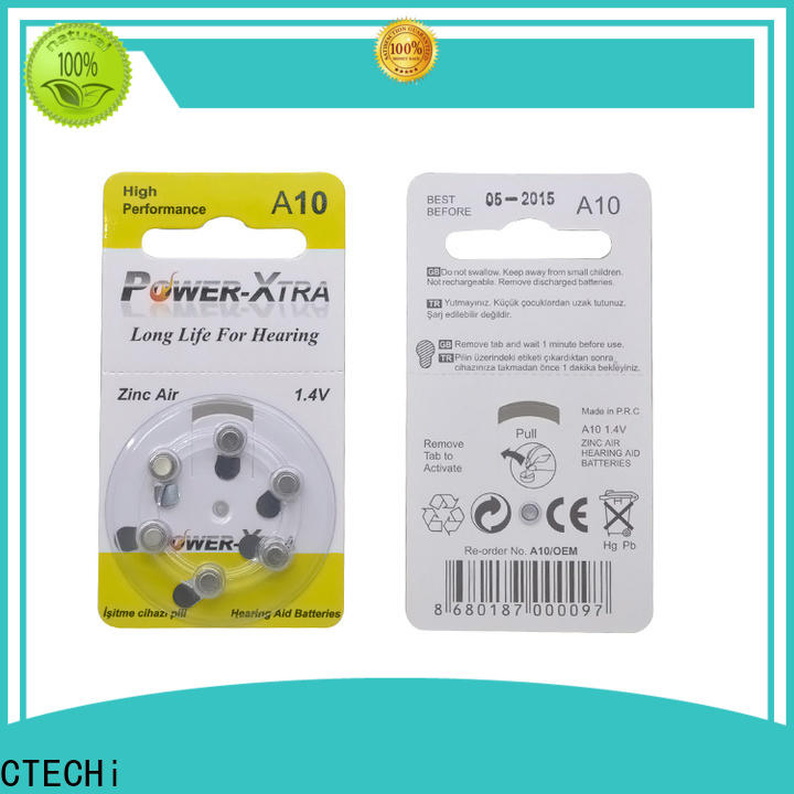 CTECHi rechargeable zinc air battery wholesale for hearing aid