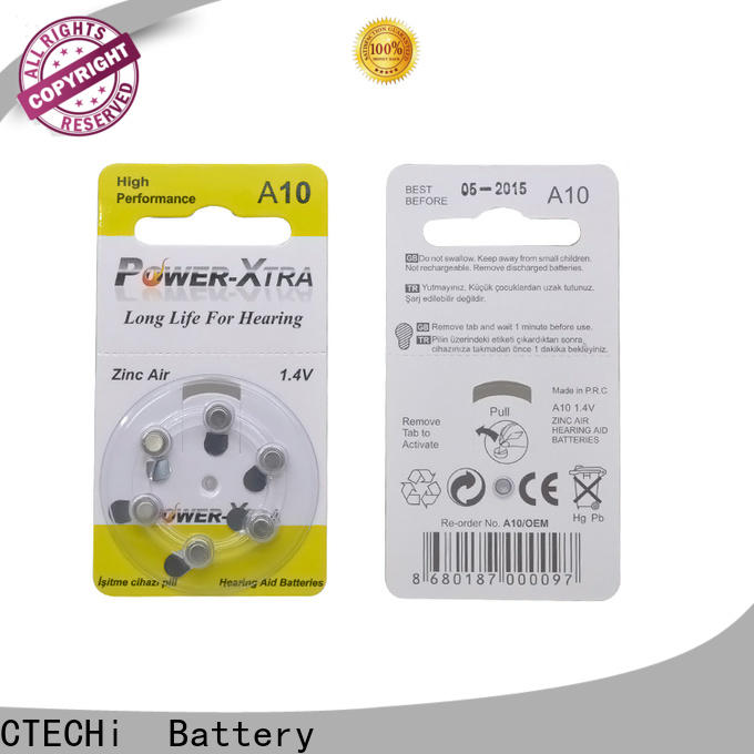 CTECHi 1.4v rechargeable zinc air battery design for hearing aid