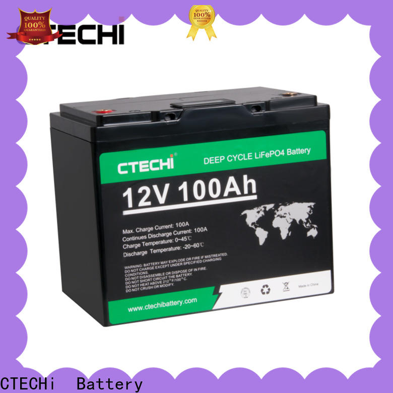 CTECHi durable lifepo4 power pack manufacturer for Boats