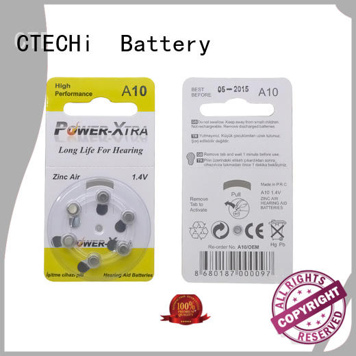 CTECHi rechargeable zinc air battery wholesale for remote key
