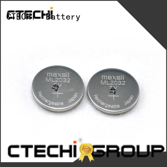 CTECHi digital rechargeable coin cell battery factory for car key