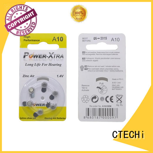 CTECHi high quality rechargeable zinc air battery supplier for hearing aid