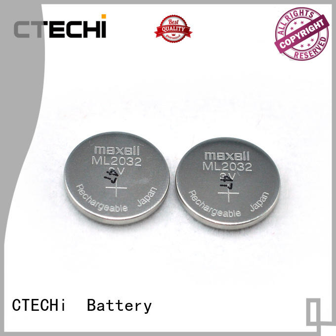 Rechargeable lithium button battery ML2032 3V