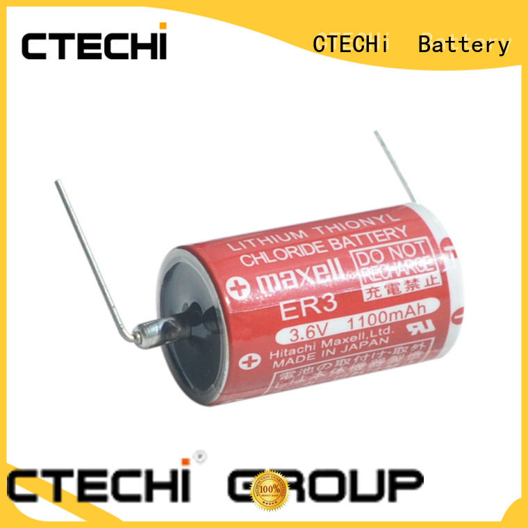 CTECHi solder tab maxell lithium battery personalized for smart meter