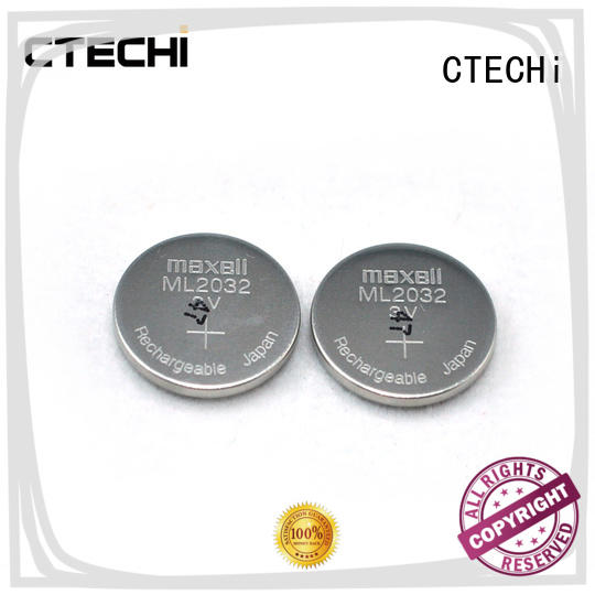 CTECHi digital rechargeable button batteries mini for car key